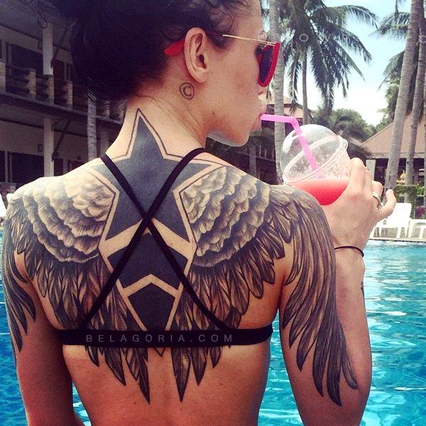 Tatuajes En La Espalda Completa Para Mujeres Tatuajes Para Mujeres